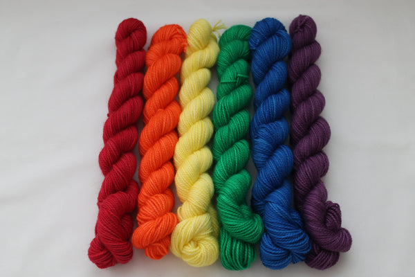 Rainbow Victorious Mini Kit fingering weight yarn