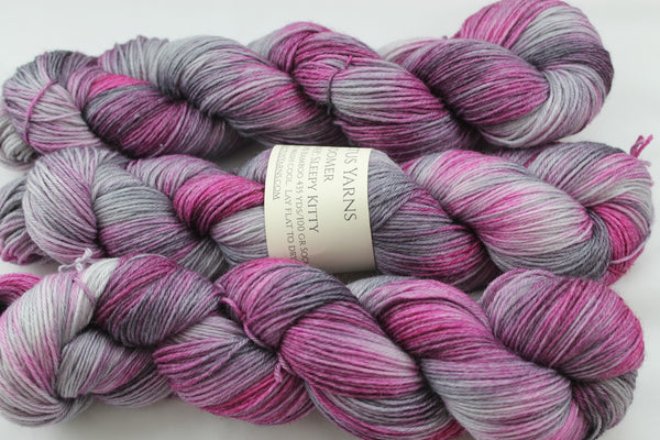Sleepy Kitty BooMer sock yarn merino/bamboo fingering weight yarn