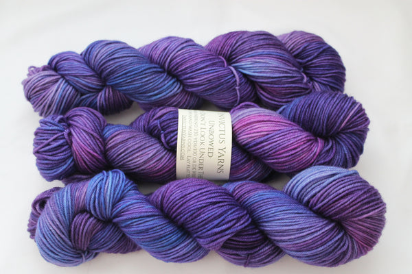 Don't Look Under the Lilacs Unbowed DK yarn 100% super wash merino