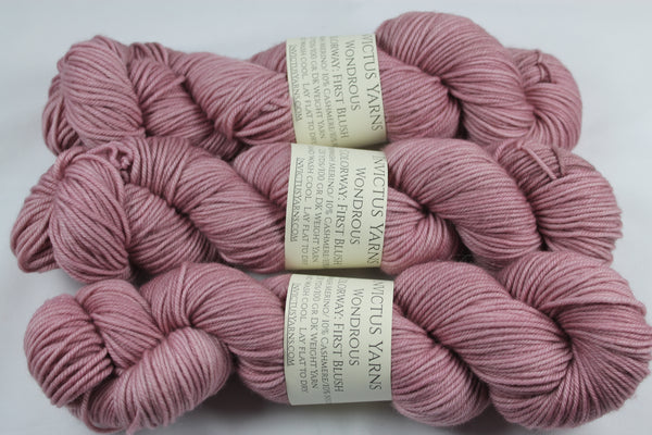 First Blush Wondrous DK MCN hand dyed yarn
