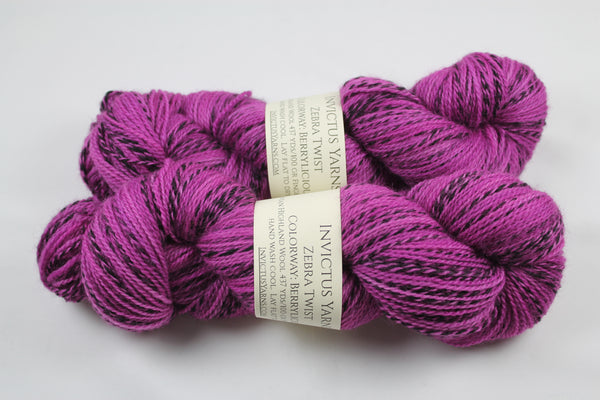 SALE Berrylicious Zebra Twist Peruvian Highland Wool non-superwash  fingering weight yarn