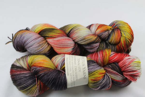 Disguises Tenacity 80/20 merino/silk fingering weight yarn shawl length skein extra length