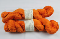 Pumpkin Spice Poetry merino/silk fingering weight yarn
