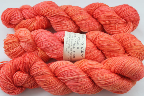 Spice of Life BooMer sock yarn merino/bamboo fingering weight yarn