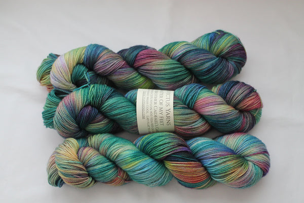 Brother Cadfael's Garden Master of My Feet merino/nylon fingering weight sock yarn