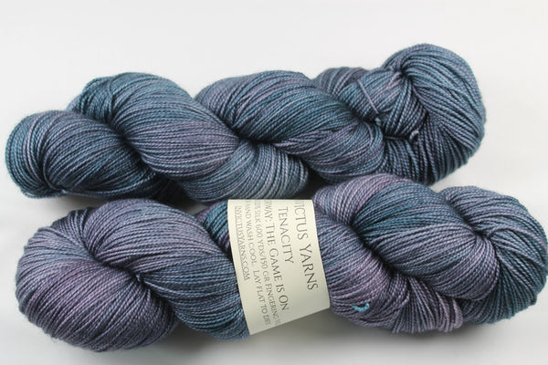 The Game is On Tenacity 80/20 merino/silk fingering weight yarn shawl length skein extra length