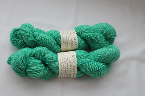 Calming Unconquerable Sole BFL SW BFL/nylon fingering weight sock yarn