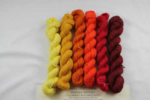 Autumn Leaves Reward Mini Kit fingering weight yarn