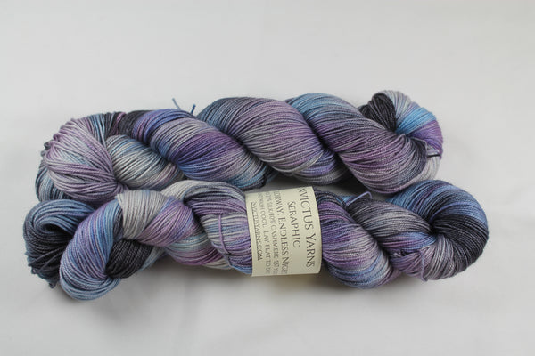 Endless Night Seraphic 70/10/20 MCS fingering weight sock yarn
