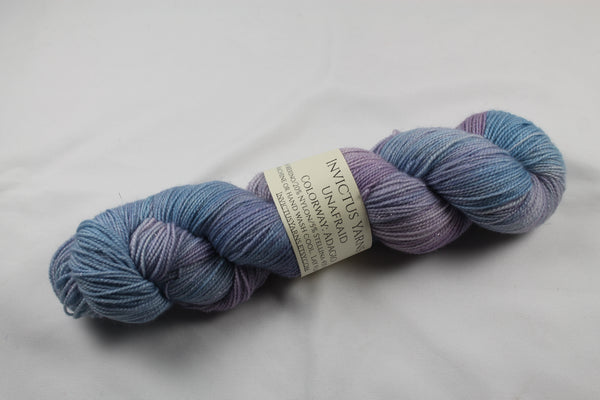Adagio Unafraid Superwash Merino/Nylon/Stellina fingering weight shimmer sock yarn