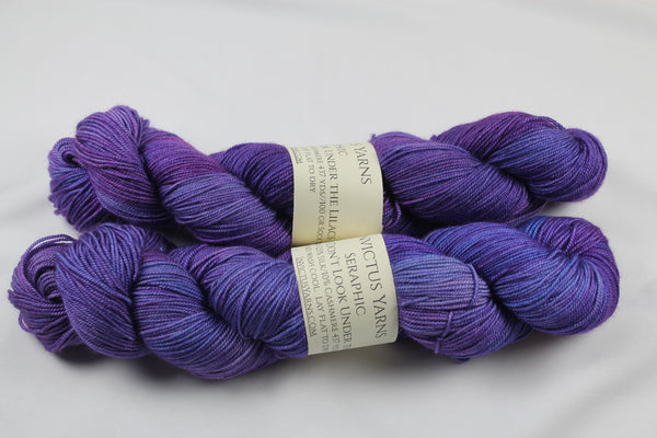 Don't Look Under the Lilacs Seraphic 70/10/20 MCS fingering weight sock yarn
