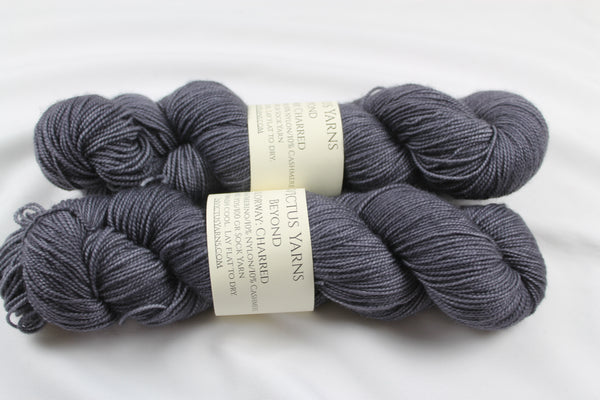Charred Beyond 80/10/10 MCN fingering weight sock yarn