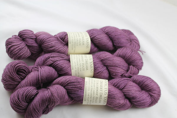 Haze Desert Dream baby camel/silk fingering weight yarn non superwash