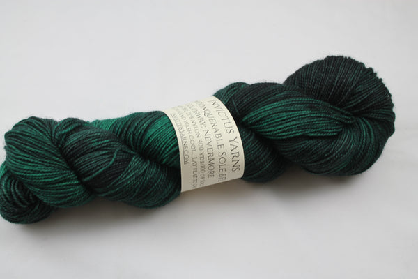 NeverMore Unconquerable Sole BFL SW BFL/nylon fingering weight sock yarn