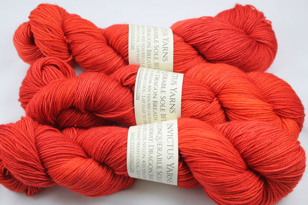 Dragon Breath Unconquerable Sole BFL SW BFL/nylon fingering weight sock yarn