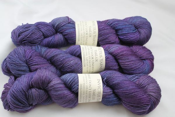 Don't Look Under the Lilacs YakLux Merino/Silk/Yak fingering weight yarn