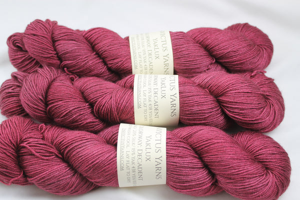 Decadent YakLux Merino/Silk/Yak fingering weight yarn