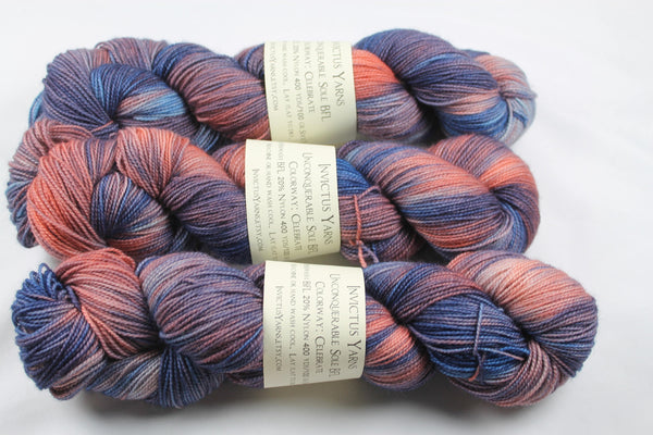 Celebrate Unconquerable Sole BFL SW BFL/nylon fingering weight sock yarn
