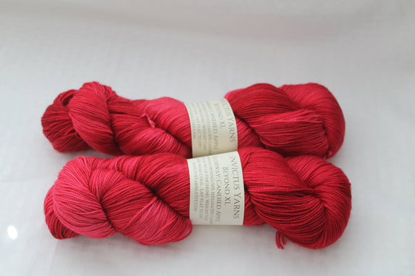 Candied Apple Beyond XL MCN fingering weight extra length yarn
