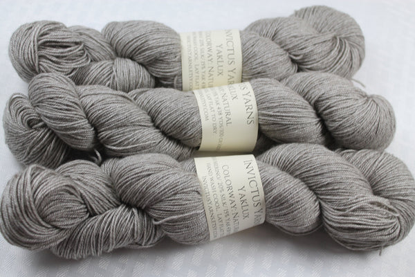 Natural YakLux Merino/Silk/Yak fingering weight yarn