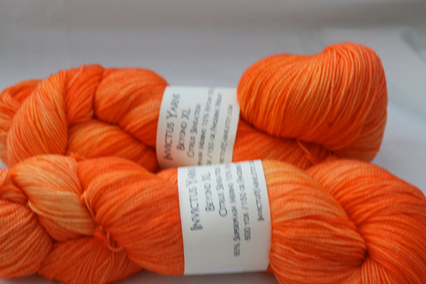 Citrus Sensation Beyond XL MCN fingering weight extra length yarn