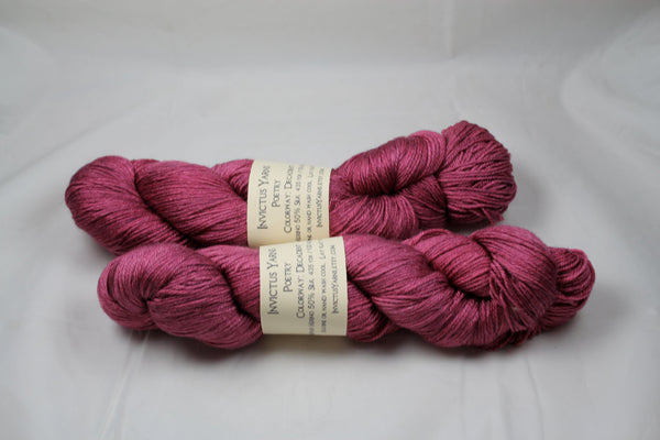 Decadent Poetry merino/silk fingering weight yarn
