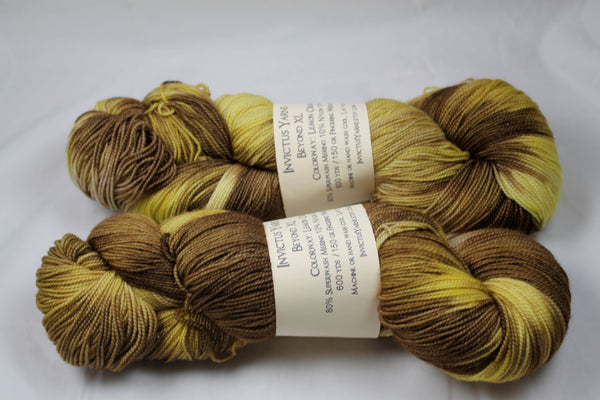 Lemon Creme Beyond XL MCN fingering weight extra length yarn