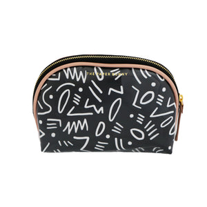 The Paper Bunny Black Graffiti Pouch