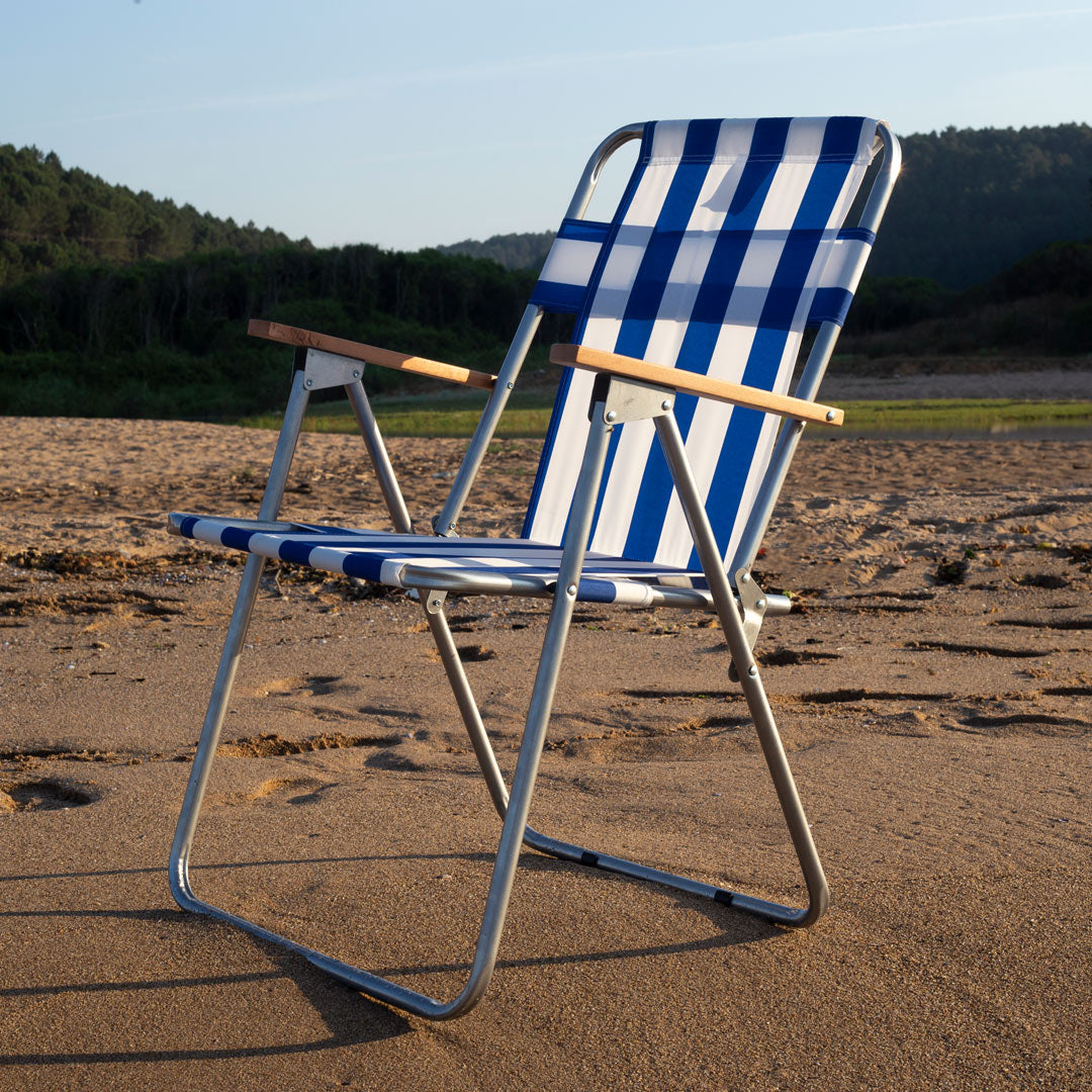 Portable Beach Chair Striped Exent Group