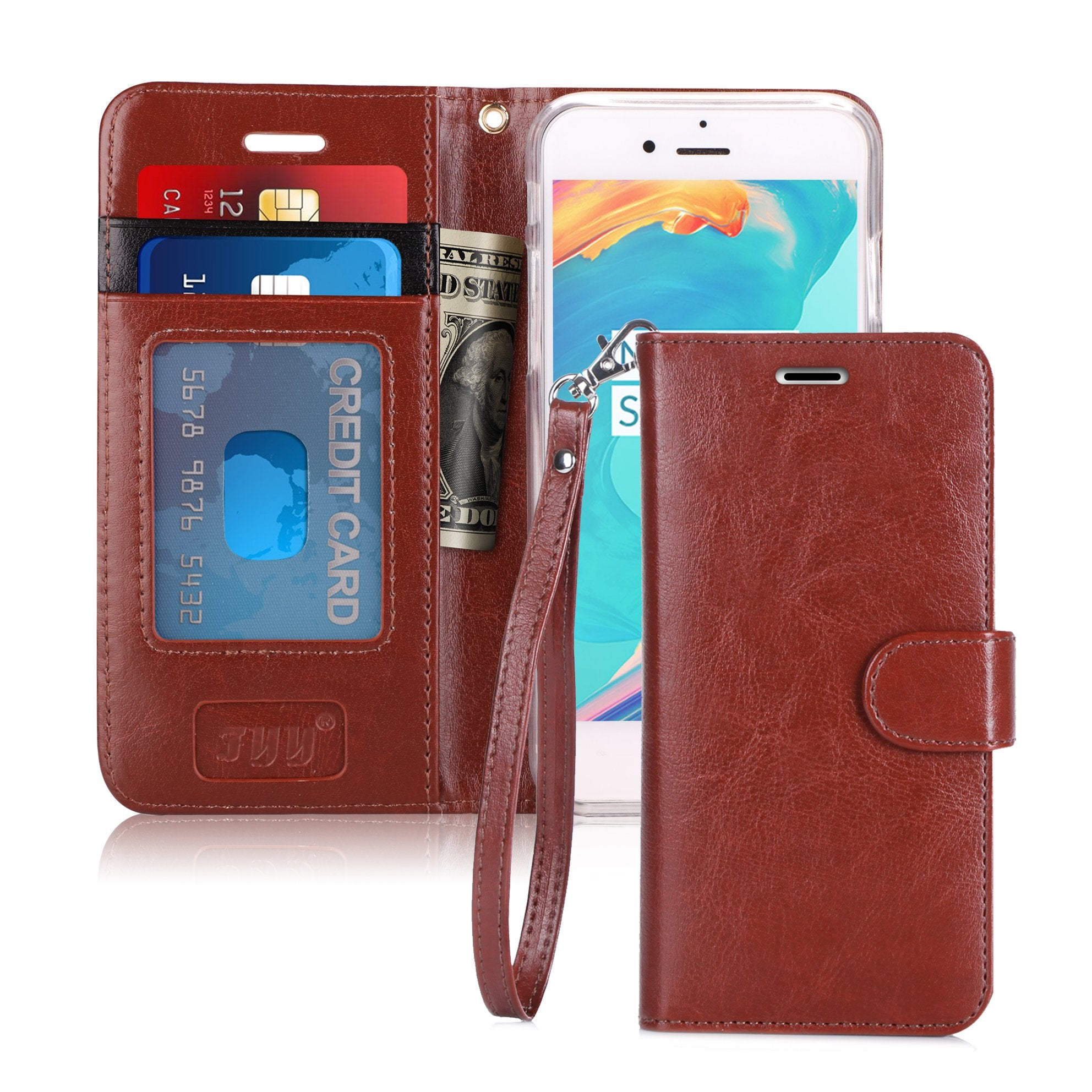Leather Wallet Case for iPhone 8/7