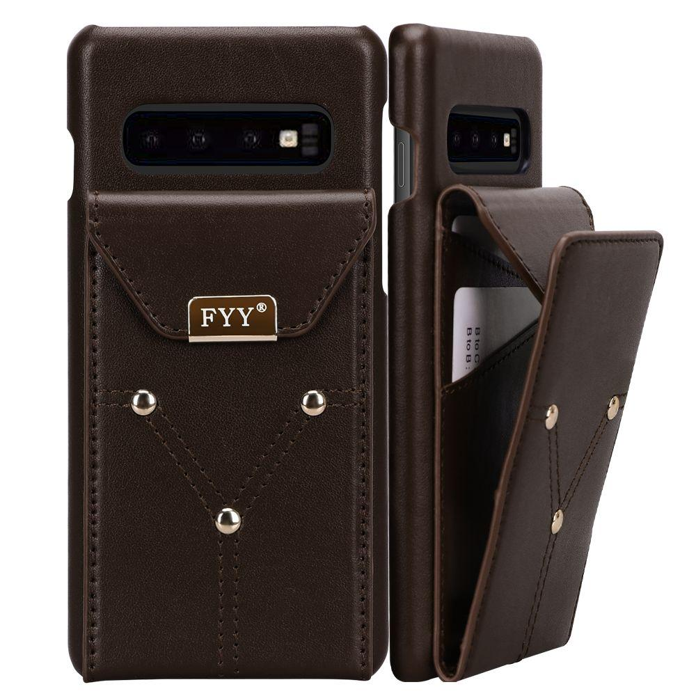 Genuine Leather Wallet Case for Galaxy S10 6.1""