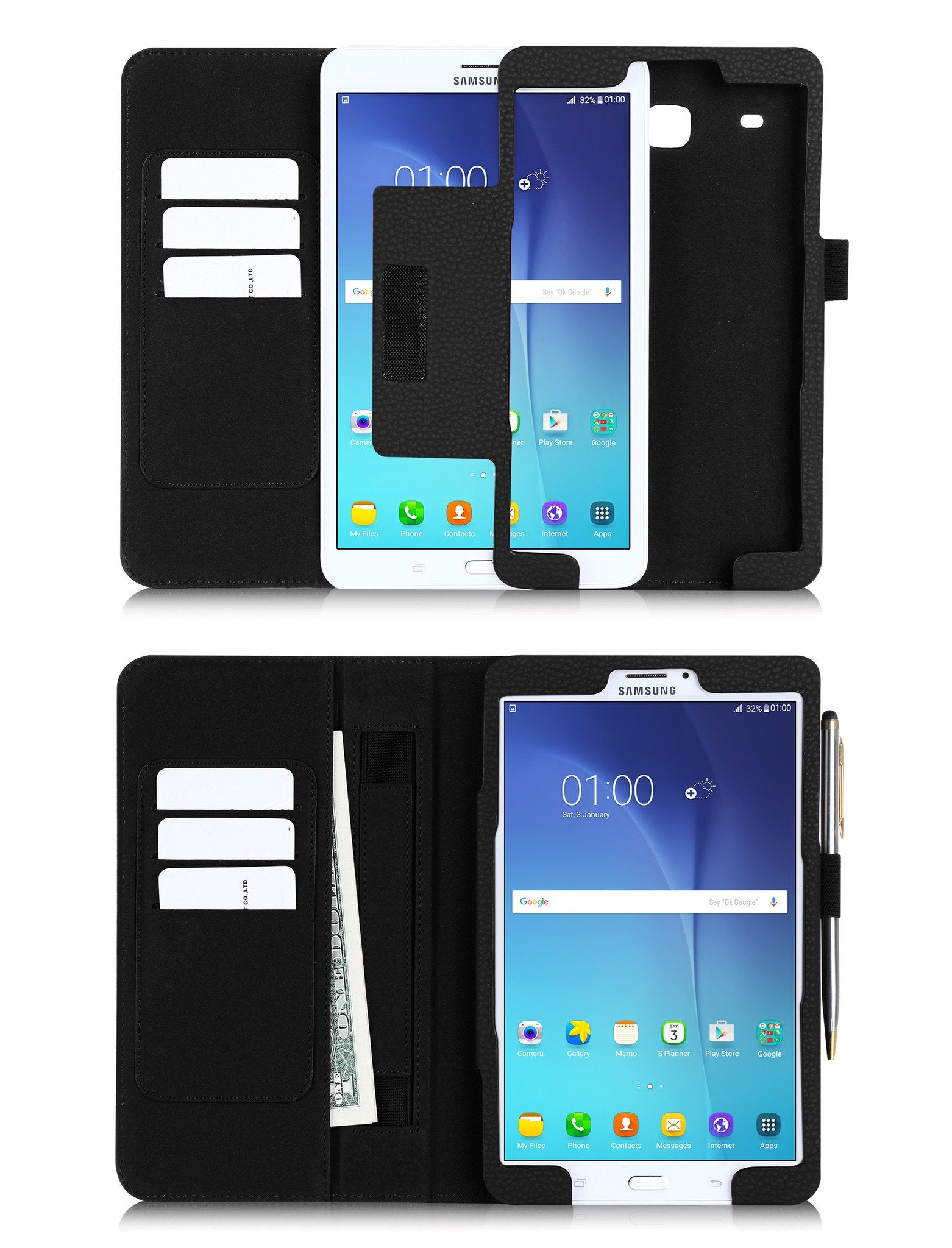 Premium PU Leather Case for Galaxy Tab E 8.0 4G LTE SM-T377