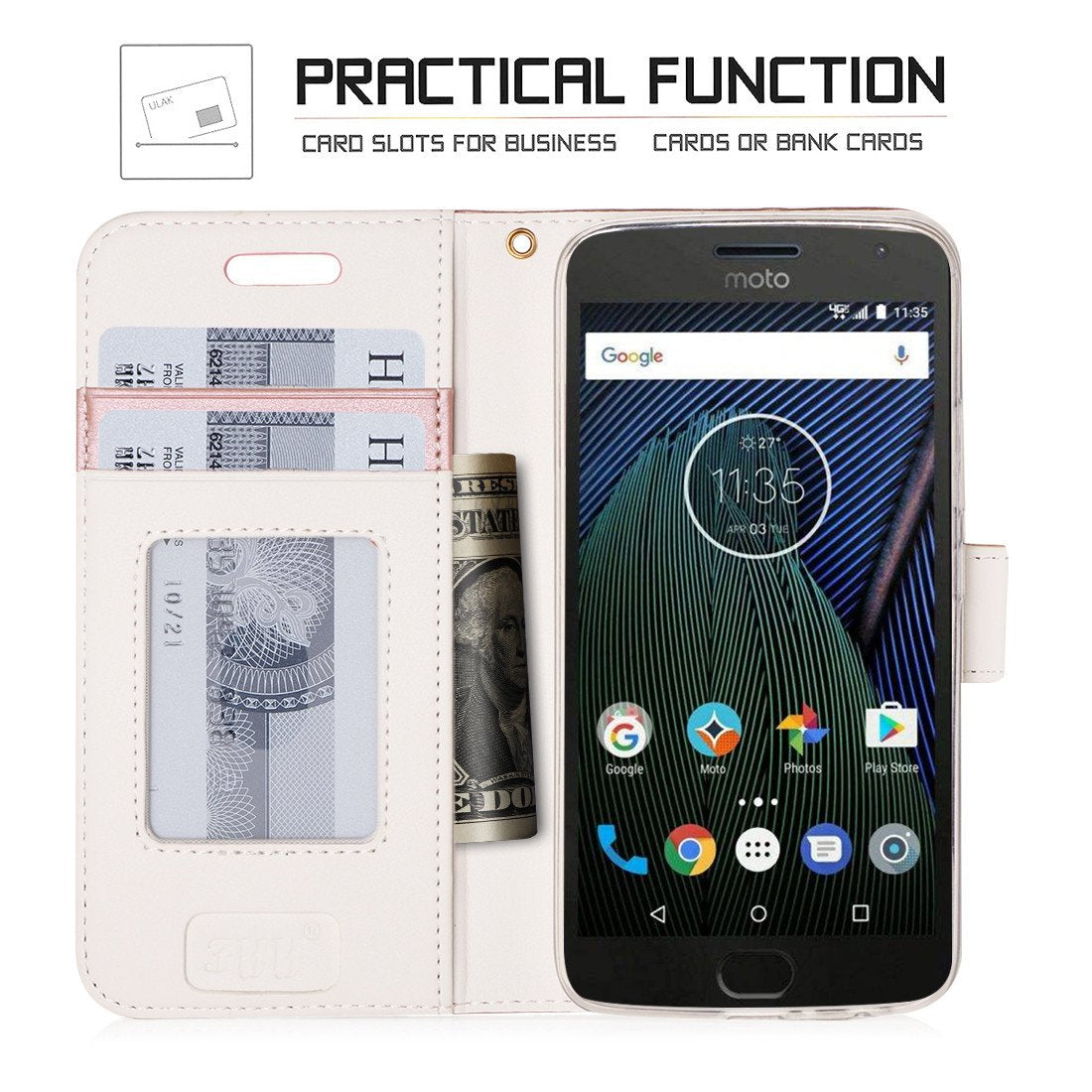 Wallet Case Stand Case for Moto G5 Plus
