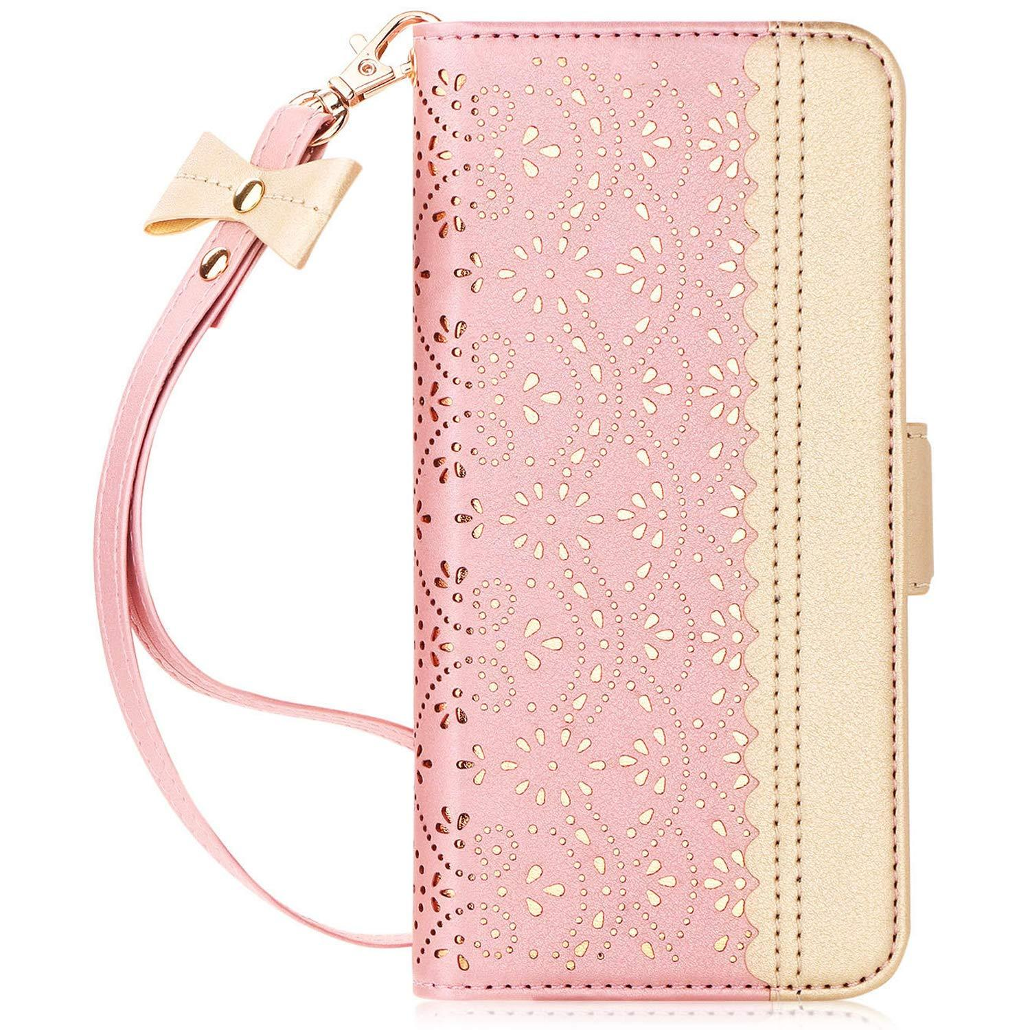 Luxurious Carved Flower Wallet Case for Galaxy S10 Plus 6.4""