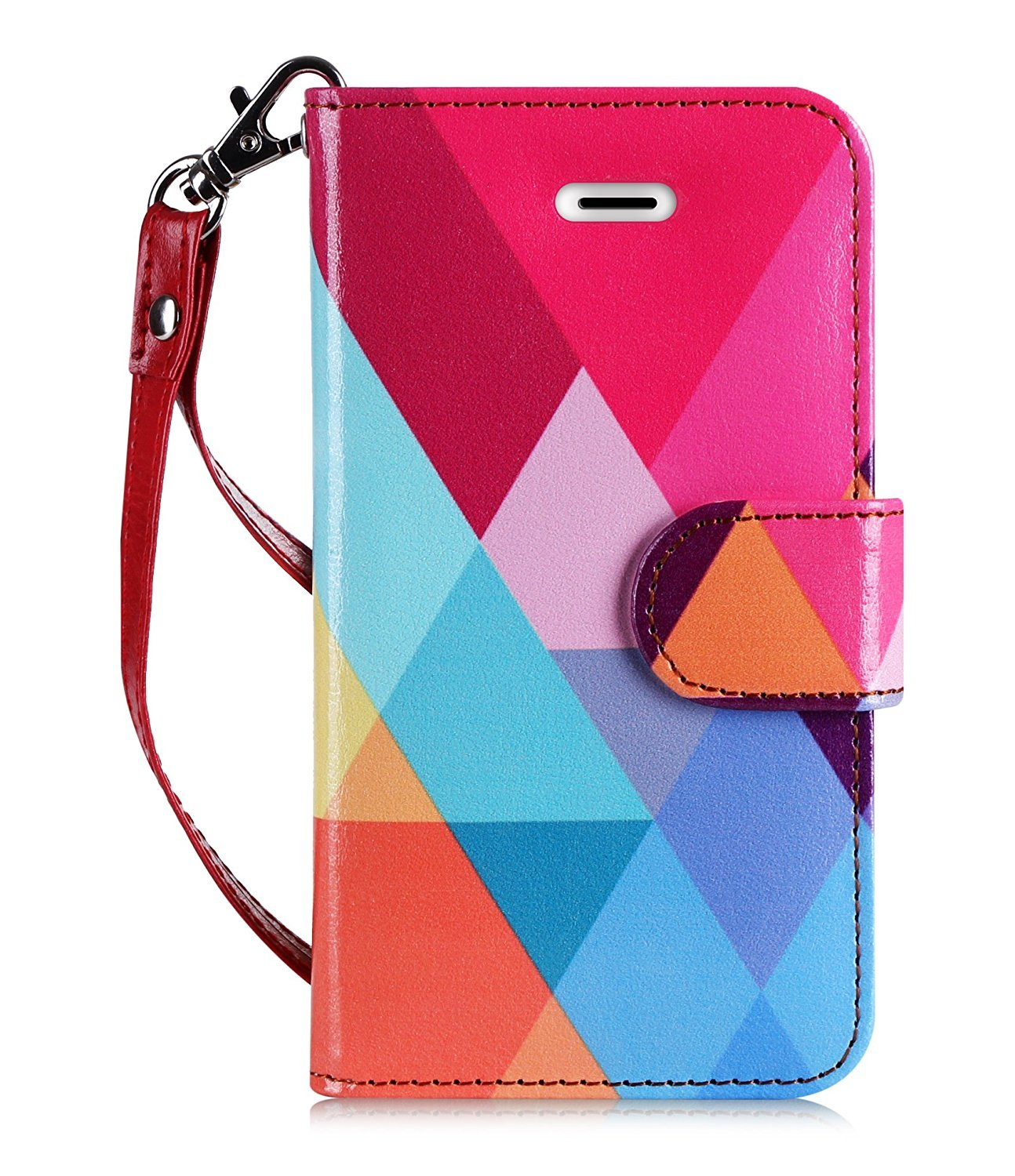 PU Leather Wallet Case for iPhone SE /5S/5 (2016 Release)