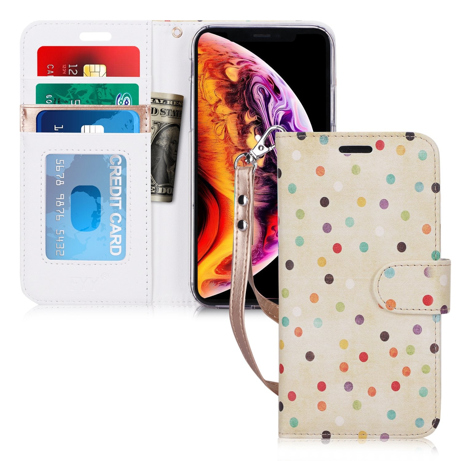 "PU Leather Wallet Case for iPhone Xr (6.1"") 2018"