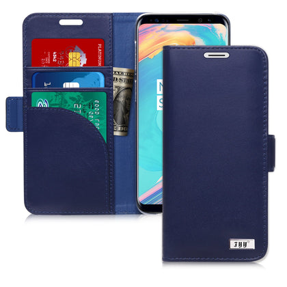 Genuine Leather Wallet Case for Galaxy S9 Plus | mywenyi