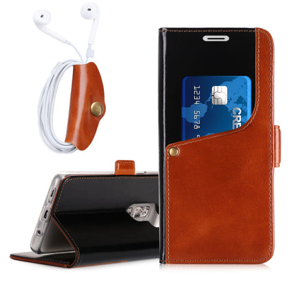Genuine Cowhide Leather Wallet Case for Galaxy S9 Plus | mywenyi