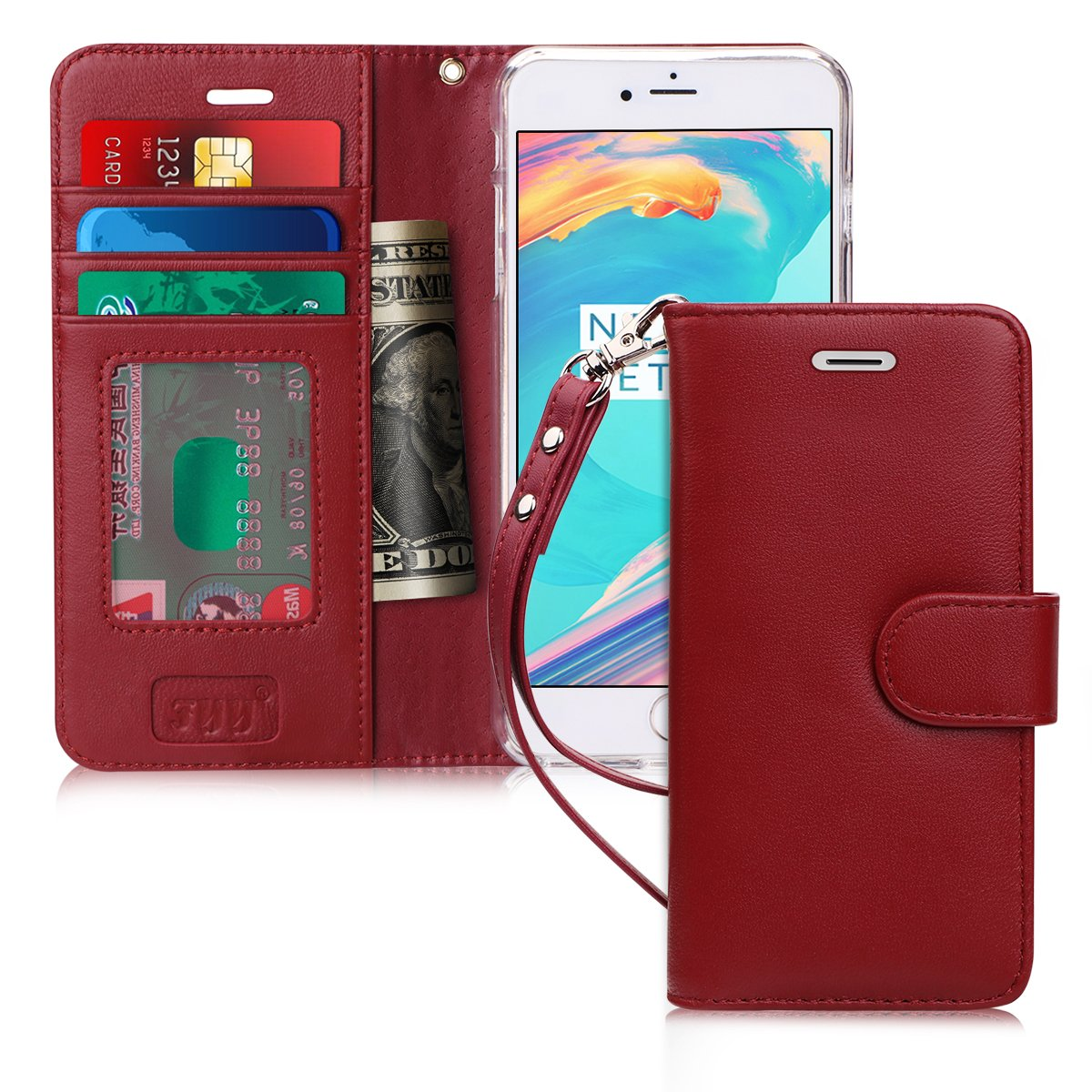 Genuine Leather Wallet Case for iPhone 8/7 Plus