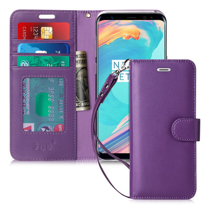 Genuine Leather Wallet Cover for Galaxy S8 Plus | mywenyi