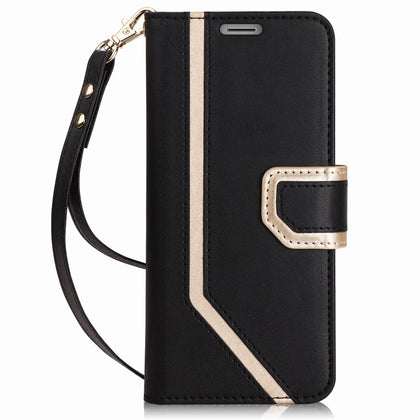 PU Leather Wallet Case for iPhone SE/5S/5 | mywenyi