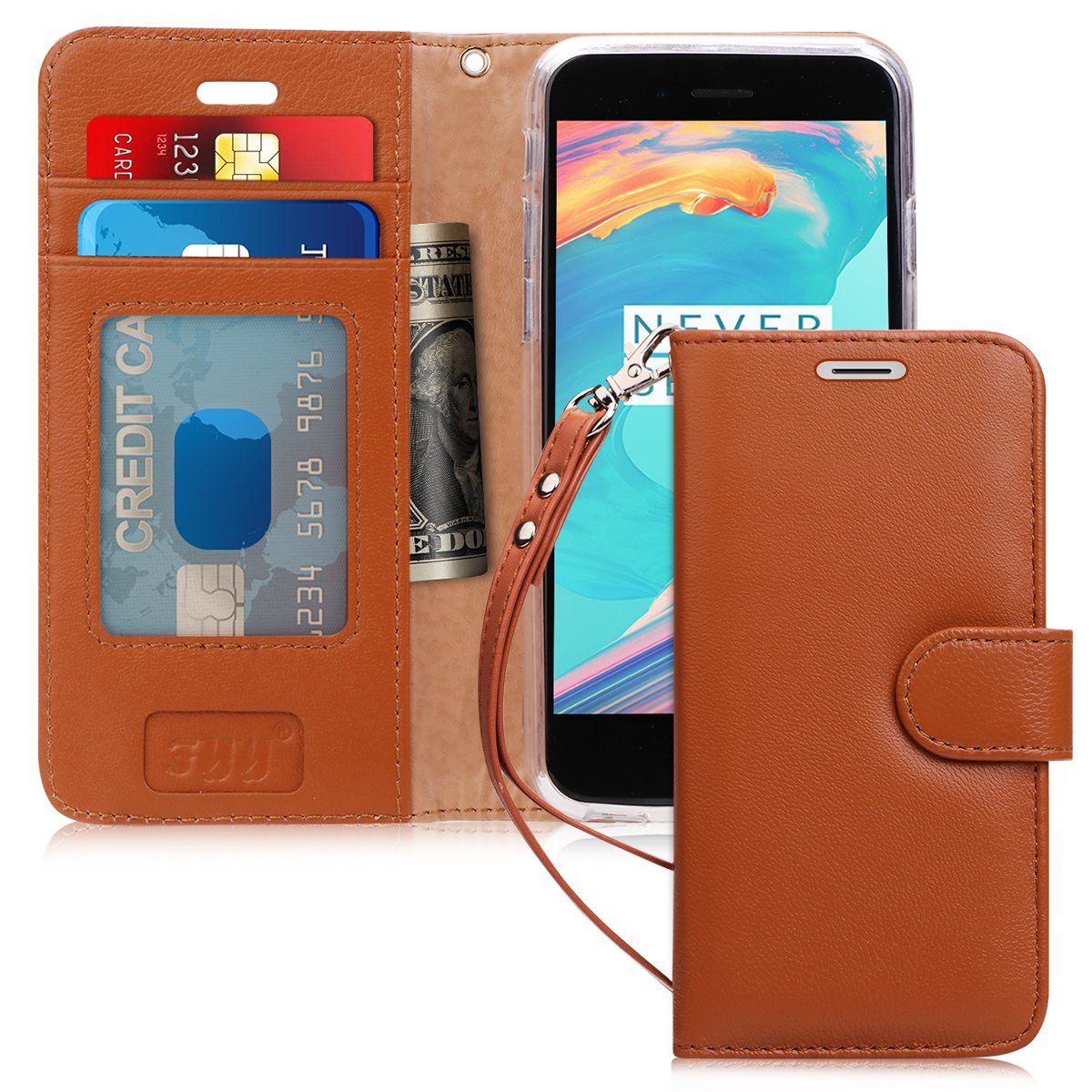 Genuine Leather Wallet Case for iPhone 6/6S