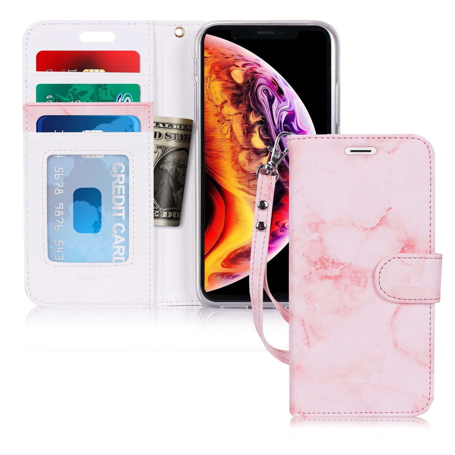 "PU Leather Wallet Case for iPhone 6.5"" 2018"