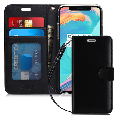 Genuine Leather Wallet Case for iPhone Xs (5.8