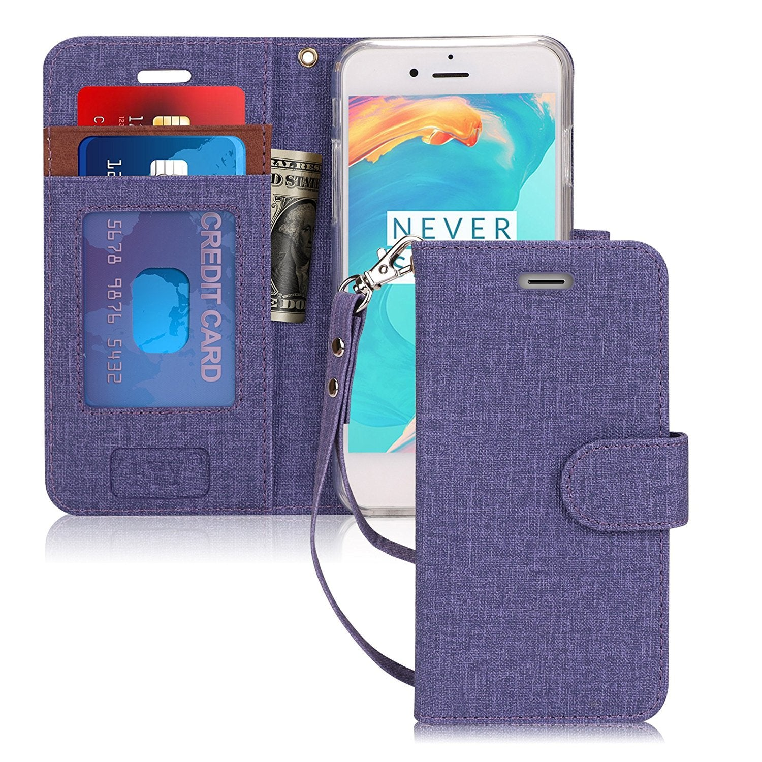 Canvas Wallet Case for iPhone 6/6S