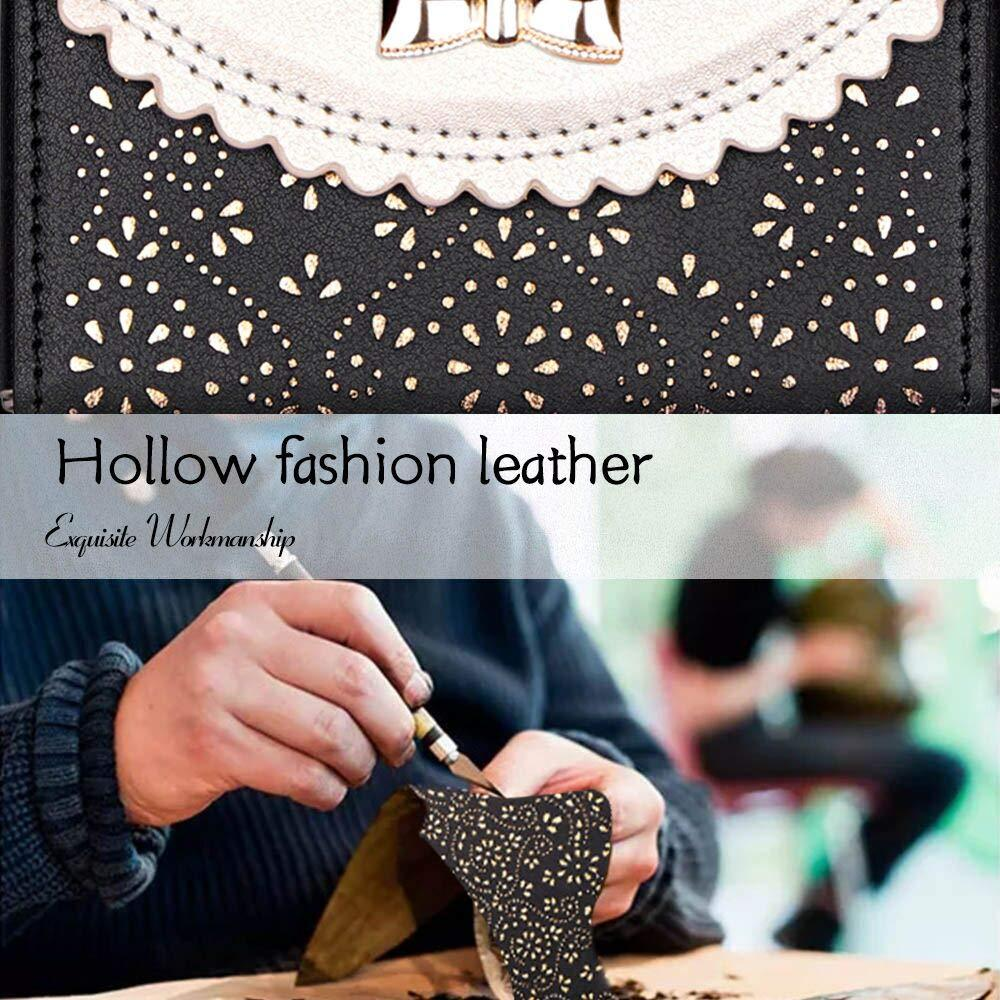 [Romantic Carved Flower] Leather Business Card Case