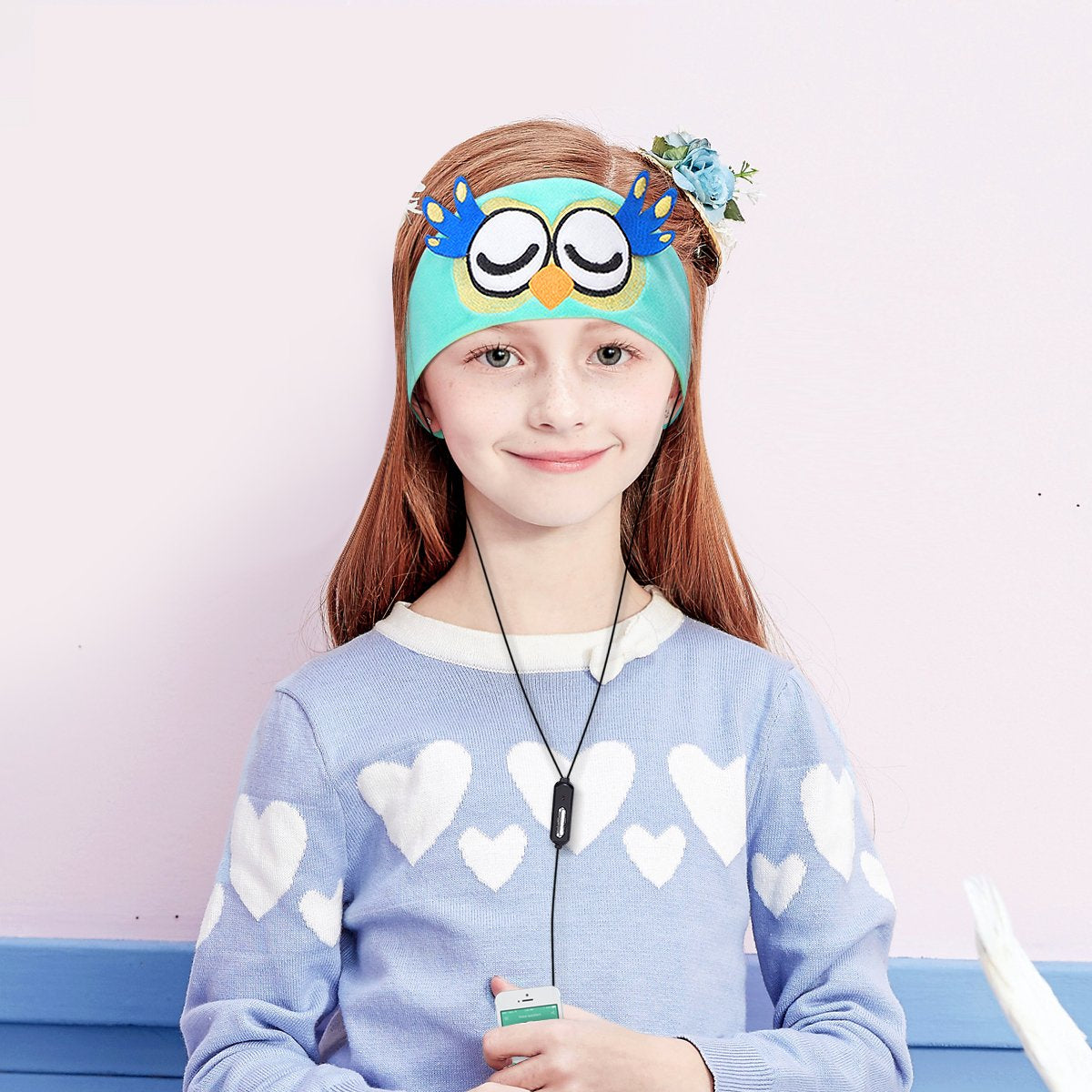 Wired Kids Easy Adjustable Soft Fleece Headband Headphones