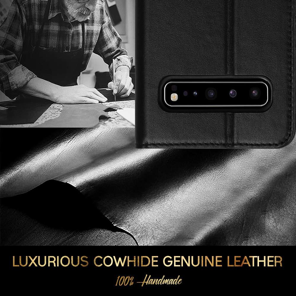 [Genuine Leather][RFID Blocking] Wallet Case for Galaxy S10 5G