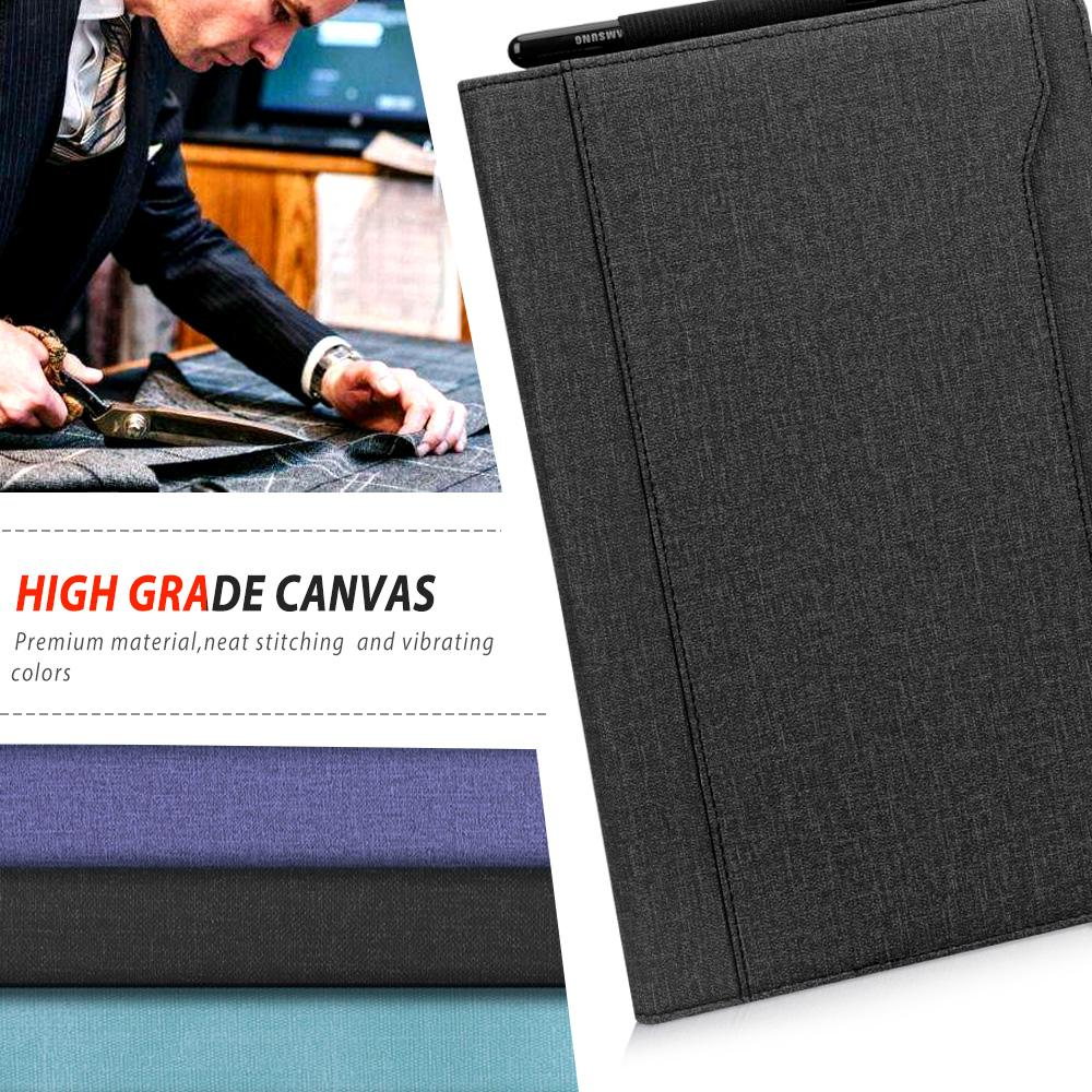 Canvas Stand Folio Case for Galaxy Tab S5e 10.5