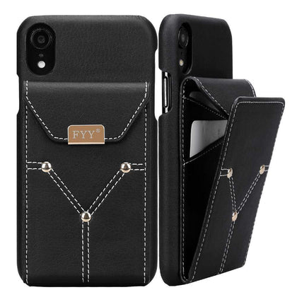 Genuine Leather Wallet Case for iPhone XR 6.1 (2018) | mywenyi